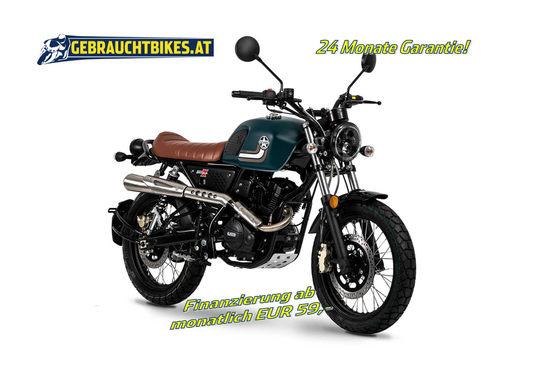 UM (United Motorcycles) Scrambler X Naked 125 - � 2590