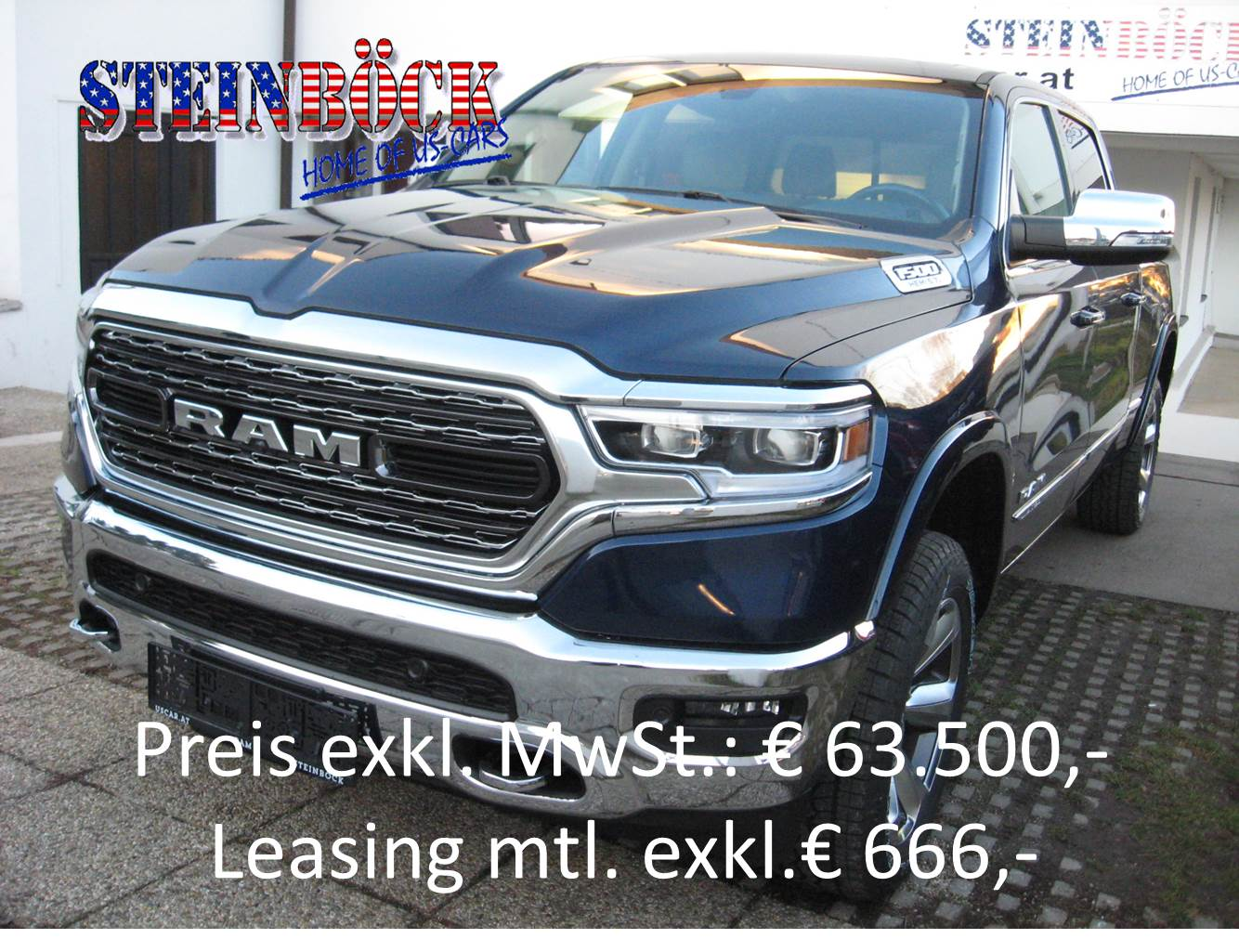 Dodge RAM 1500 Crew Cab Longbed Limited € 63.500,- NETTO - � 76200